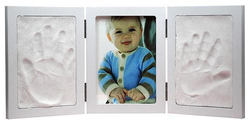 Cadre bébé empreintes