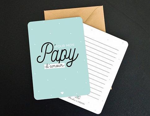 """Carte à message """"Papy"""""""