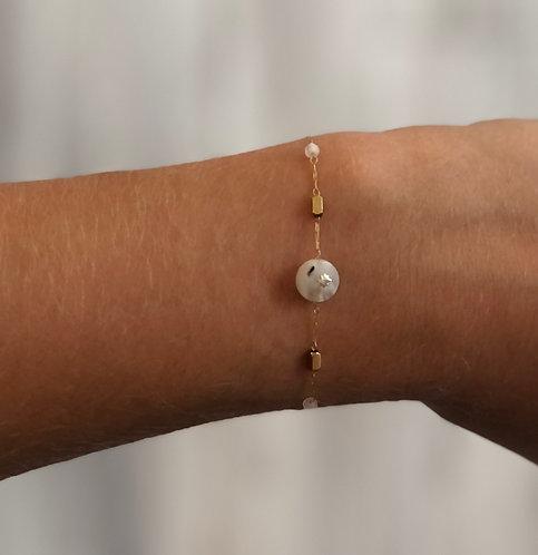 """Bracelet """"Rachel"""" blanc"""