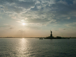 The Statue of Liberty taken from the Staten Island Ferry, New York, New York.