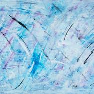 Fireflies - Blue/Black/White/Purple Abstract
