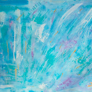Aqua/Blue/Purple/Yellow/White Abstract