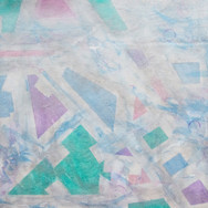 Shapes - White/Silver/green/Purple/Blue Abstract