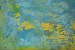 Blue, Yellow & Green Abstract