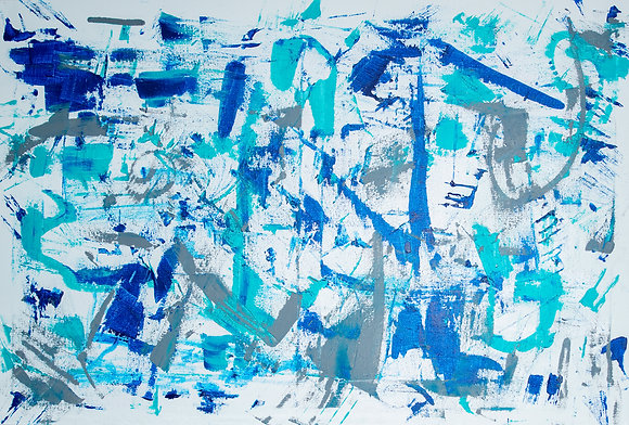 Blue/Grey/White Abstract