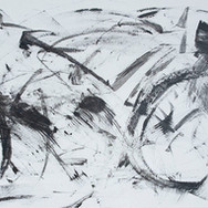 """Black/White """"C"""" Abstract"""