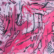 Pink/Red/Black Abstract