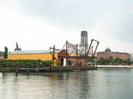 Cool Yellow/Brown Building on East River - Astoria, Queens NYC