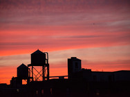 Sunset over Water Towers - UWS