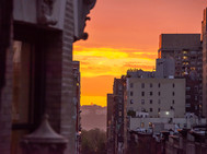 UWS Sunset between the Buildings - NYC