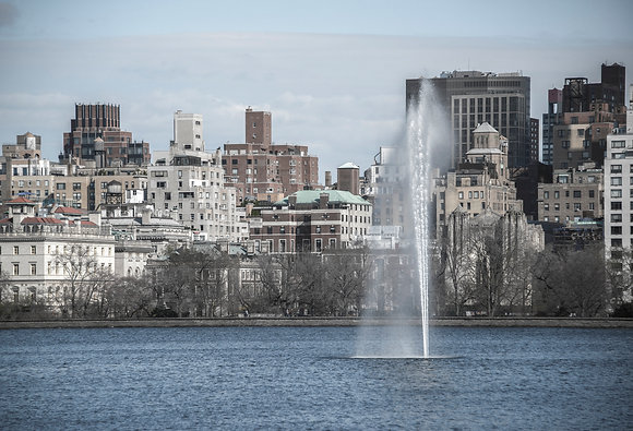 New York City - Central Park Reservoir Facing the UES