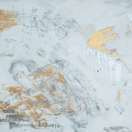 Siver/Gold/White Running Man Abstract