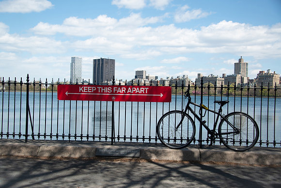 New York City - Social Distancing at the Central Park Reservoir