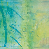 Large Green/Yellow Abstract
