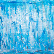 Blue/White/Silver Line Abstract