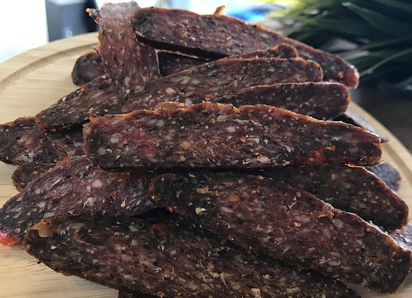 Spicy Beef Salami (100g) - ready to eat - preservative free