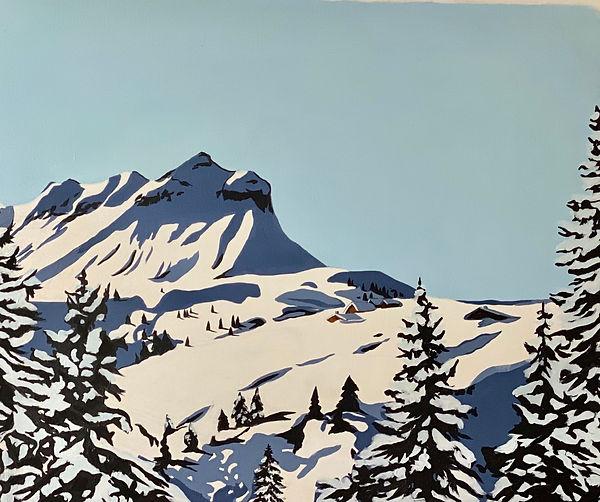 paysage montagne 230 euros toile acryliq
