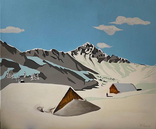 paysage de montagne 3 vendu toile 60x50