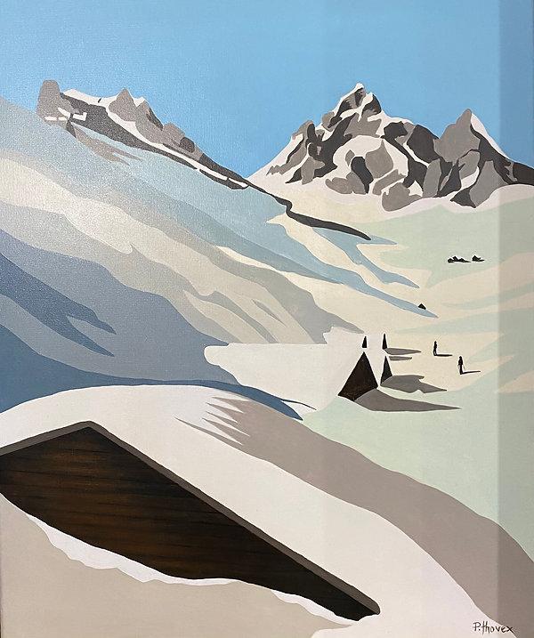 paysage de montagne 2 vendu toile 65x55