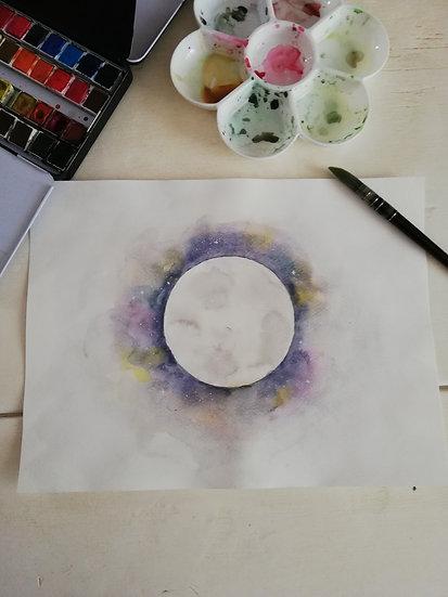 Aquarelle • Lune