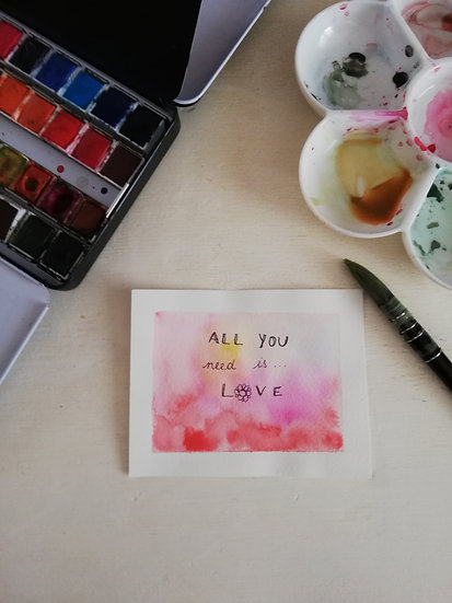 Aquarelle • All you need is love