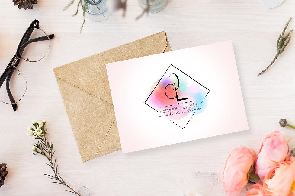 Free Beautiful Greeting Card MockUp Psd.