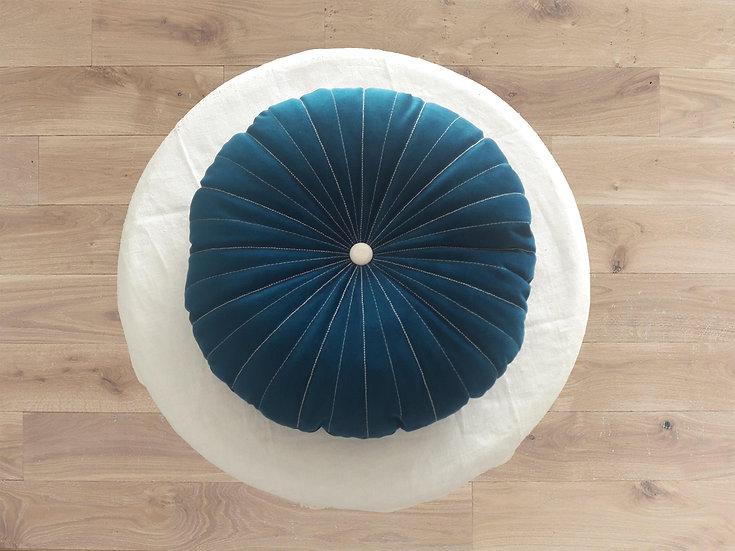 Coussin Ysiad en velours - Bleu