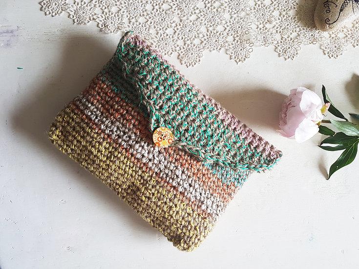 Pochette en corde de chanvre • Multicolore