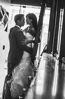 bride and groom embraced, Hotel Sorella