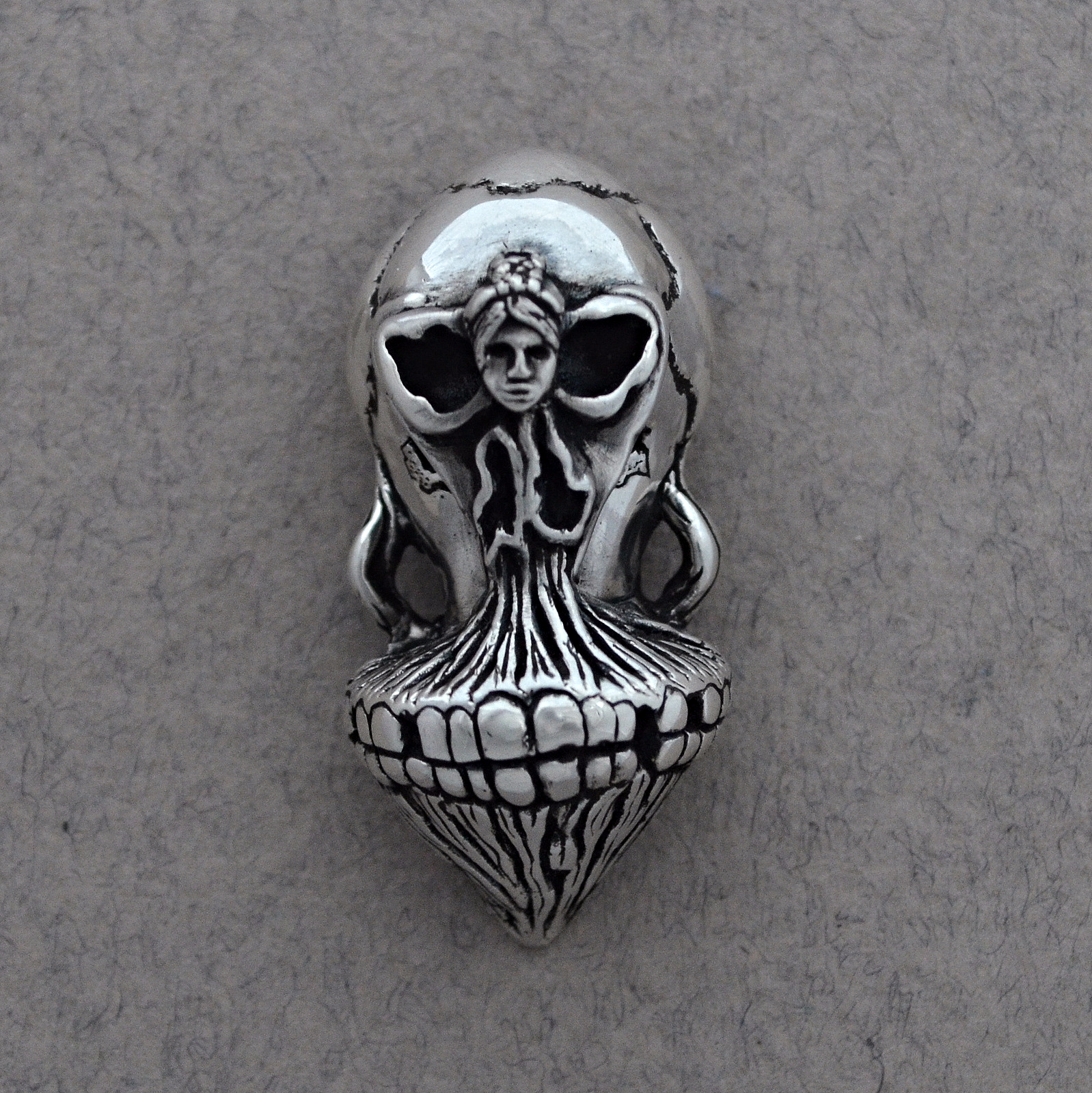Bespoke jewellery, Ballerina in Death's Head The Wildness Jewellery