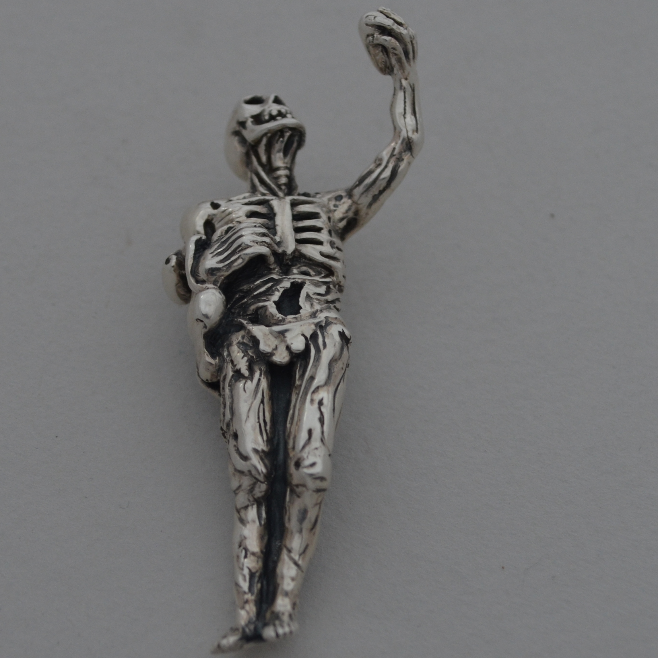 Bespoke Death as a Skeleton pendant The Wildness Jewellery
