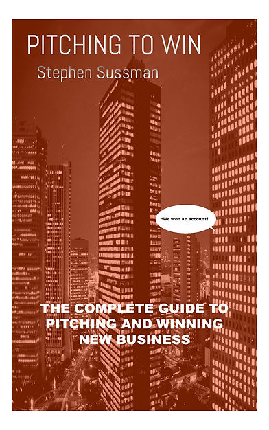 Cover of the award winning book:Pitchng to Win, the complete guide to pitcing an winning new business