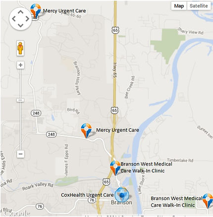 Medical care providers in Branson, MO