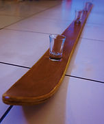 The handmade shot ski, this shotski can be customised for your wedding, party or birthday celebration