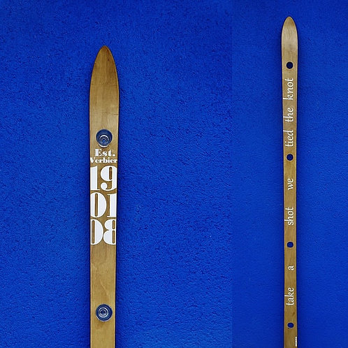 Handmade ShotSki with customised message