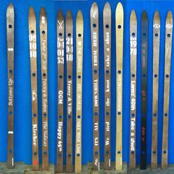 A selection of handmade Shot Skis