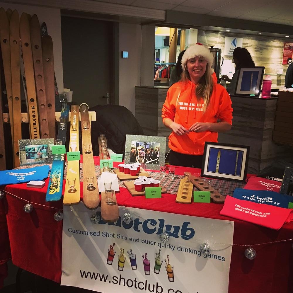 ShotClub stall at Chester Christmas Market