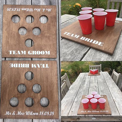 Customised Beer Pong Boards