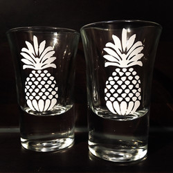 Pineapple shot glasses