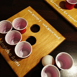 A customised Shot Pong Board