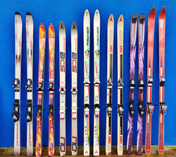 Retro Shot Skis!