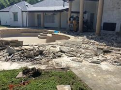 Pool Deck Demo Work