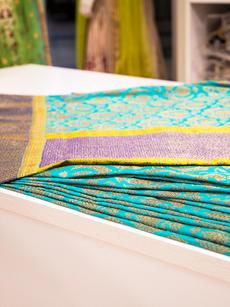 Teal Handloom silk