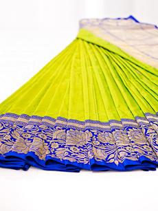 Green blue saree