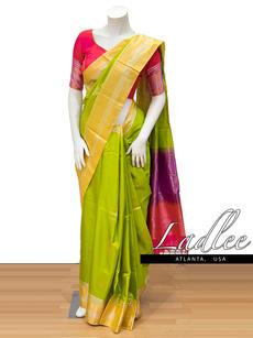 Green Handloom silk saree