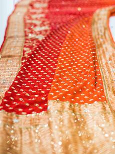 Shades red saree