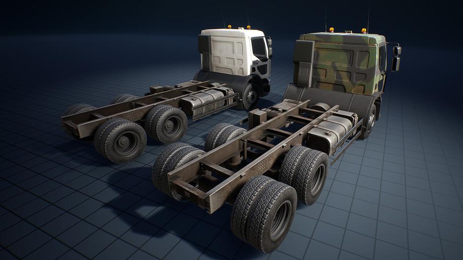 Truck, Garbage truck, Truck for anti-aircraft guns