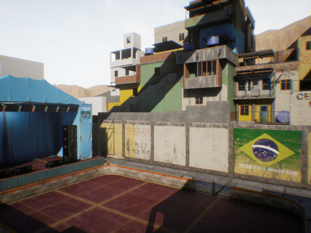 Work on the creation of the Brazilian favela for UE4