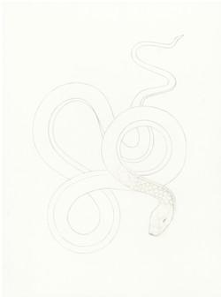 Dessin  poignée serpent bestiaire