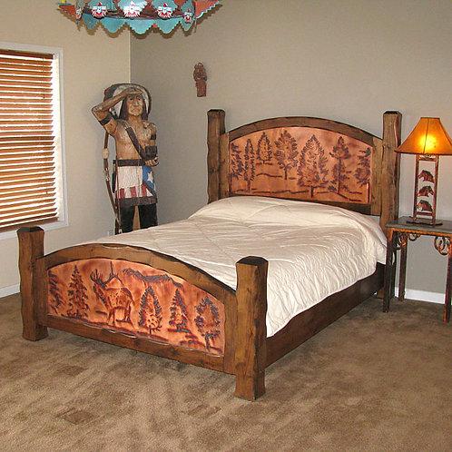 Elk in Pines Copper Bed
